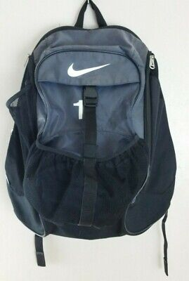 f3c350fd52 Nike 3 Pouch Athletic Sport Basketball Soccer Volleyball Backpack Black    Gray