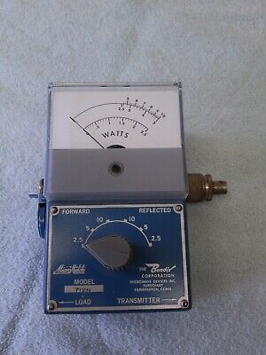 BENDIX MICROWAVE DEVICES MICRO MATCH BLUE METAL WATTMETER - MODEL 712n