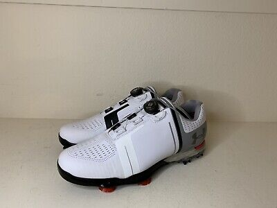 14b2e4b0cd76 New Mens Under Armour Jordan Spieth One BOA Golf Cleats Spikes 1292754-100  SZ 10
