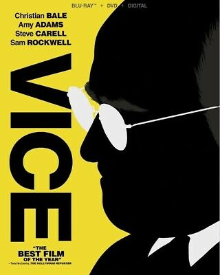 Vice NEW BLU-RAY + DVD + DIGITAL CODE - Christian Bale -  PRE ORDER for 4/02/19!