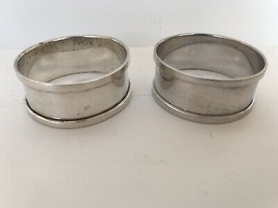 A pair of Henry Griffith and Sons Silver Napkin Rings