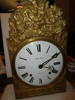 Large-Antique-French-Morbier-Clock Movement-Ca.1870-To Restore-#T200