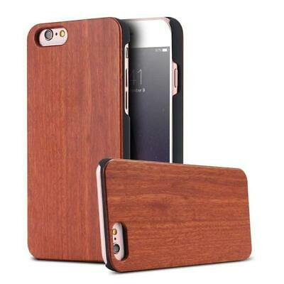 Real Wood Case For iPhone 8 7 6 6S X XS Max XR 5S Genuine Original Bamboo Cov...