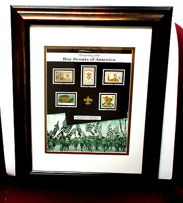 All 5 OFFICIAL Boy Scout & Rockwell Stamps Award Plaque MINT Great Eagle Gift
