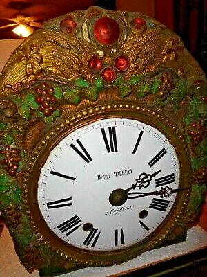 Antique-French-Morbier-Clock Movement-Ca.1880-To Restore-#T202
