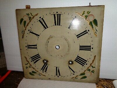 Antique-American-Wooden Works-Clock Dial-Ca.1830s-#T207