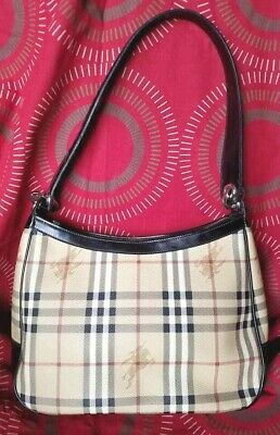 6597724101d6 Sale! 100% Authentic Burberry Haymarket Shoulder Bag In Good Used Condition