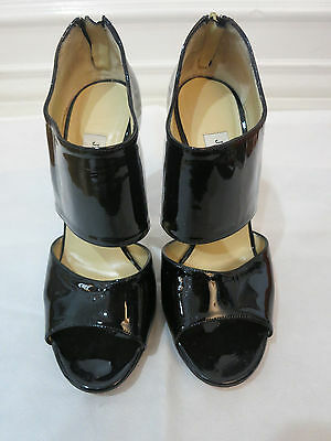 ee3468ce43dd JIMMY CHOO BLACK Leather With Stud Sandals Heels Size 39 -  250.00 ...