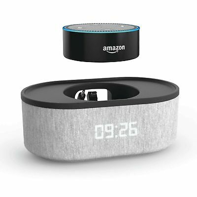 ROOST Amazon Echo Dot 2nd Generation Bedside Speaker with LED Clock and USB C...