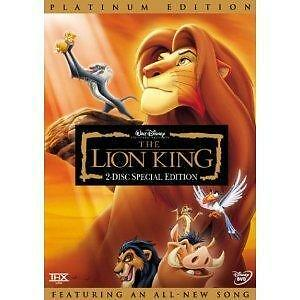 The Lion King (DVD, 2003, 2-Disc Set, Platinum Edition English and French