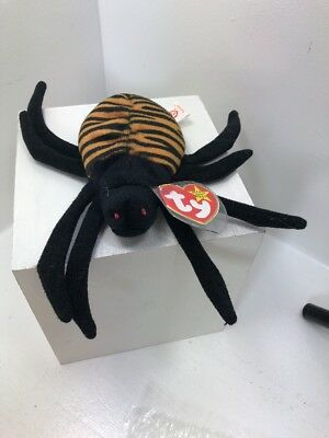 Ty Beanie Babies~4th Generation~Spinner The Spider~Good Heart Tag~E7