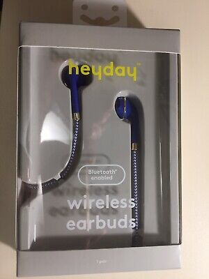 HEYDAY WIRELESS BRAIDED Earbuds, Blue/White - $8 83 | PicClick