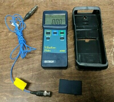Extech 407860 Heavy Duty Vibration Meter with Cable and Adapter GOOD
