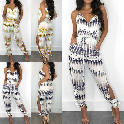 9c080da8f1 Women Jumpsuit Romper Sleeveless Playsuit Clubwear Trousers Bodycon Pants  Outfit