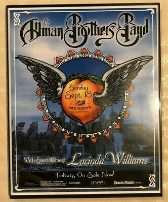allman brothers poster red rocks framed