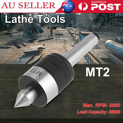 MT2 Live Center Morse Taper Precision CNC Long Spindle Lathe Tool Max Speed 5000