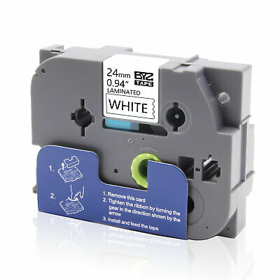 """1PK TZe-251 TZ251 Label Tape P-touch Compatible Brother 24mm 0.94"""" White PT-520"""