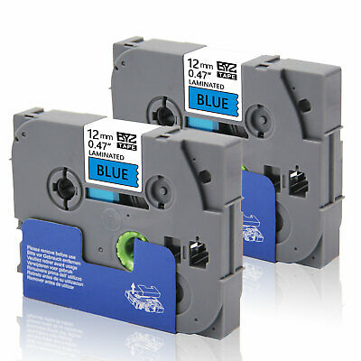 2PK Label Tape TZe531 12mm Black/blue Compatible Brother p-touch printer PT-H100