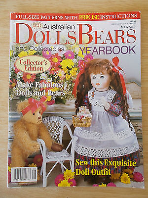 ADB&C Vol 5 #6~Doll & Bear Patterns~Maree~Camille~Gilly~Fiona Jane~Buttons...