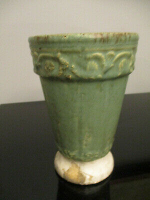 Antique VIntage Mission Arts&Crafts Matte Green Robins Egg Blue Art Pottery Vase