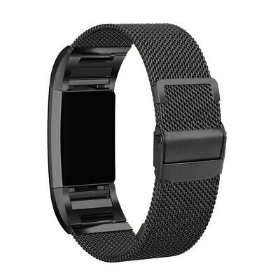 Milanese Stainless Steel Quick Release Watch Band Strap For Fitbit Charge 2