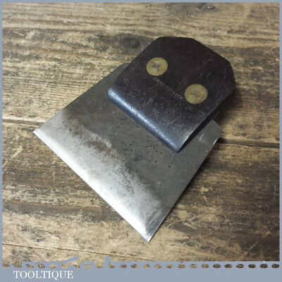 Rare Antique J Moseley & Son Rosewood Brass Cabinet Scraper Holder Blade - Go...