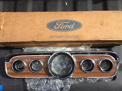 NOS 1966 Ford Mustang GT Deluxe Pony Interior Woodgrain Instrument Cluster NICE!