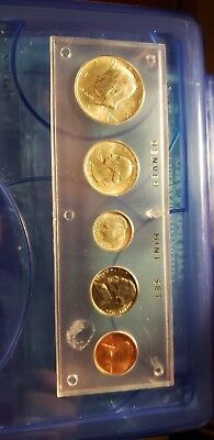 1964 U.S MINT PROOF SILVER COIN SET..01c-50c .. BRIGHT WHITE..Extremely NICE SET