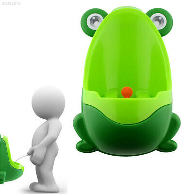 5D15 Frog-shaped Potty Toilet Training Urinal Boys Baby Standing Pee bat Blue