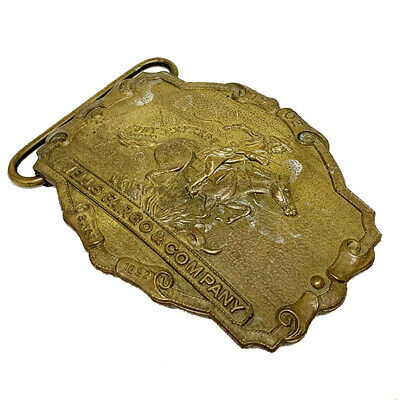 "Vintage Wells Fargo & Co ""Pony Express"" Belt Buckle- Finest Minted Brass"