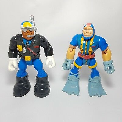 Fisher Price | GIL GRIPPER & JAKE JUSTICE Rescue Heroes Figures 1998!