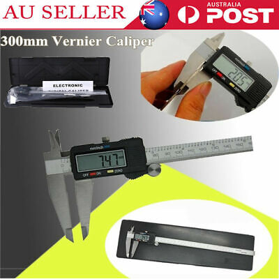 300mm LCD Caliper Vernier MM /INCH Electronic Digital Gauge Stainless Micrometer