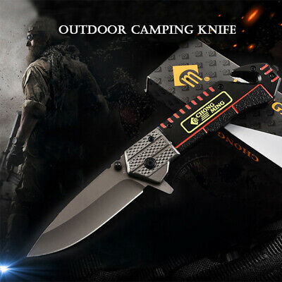 Outdoor Tactical Survival Folding Pocket Knife Camping Hunting Straight Knife 57