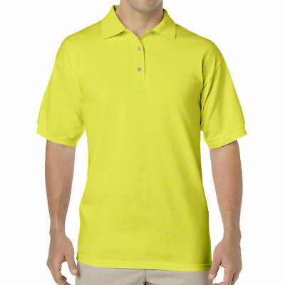 Gildan DryBlend Mens Polo Sport Shirt T-Shirt Safety Green 8800 NWOT 2XL-3XL