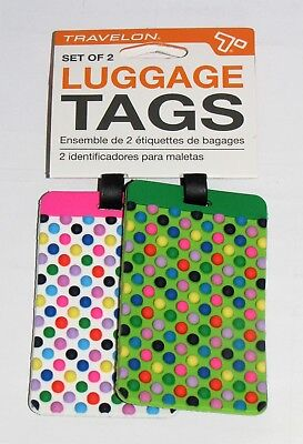 63eaa39416cd TRAVELON MULTICOLOR DOTS Luggage Tags (Set of 2)