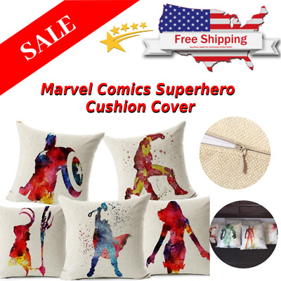 Marvel Comics Superhero Cushion Cover Kid's Playroom Sofa Throw Pillow Cas