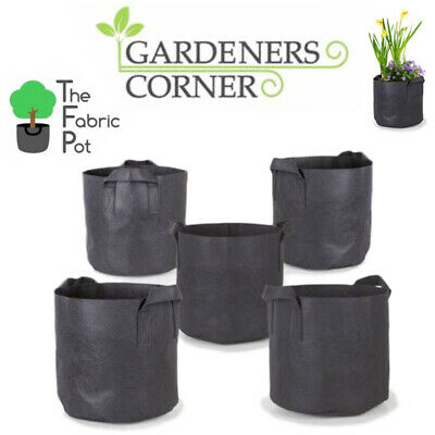 Grow Bag Fabric Pots Root Pouch with Handles Planting Container 1,2,3,5,7 Gallon