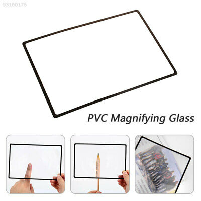 F1F4 Durable Glass Lens Magnifying Glass Archaeology PVC Transparent Magnifier