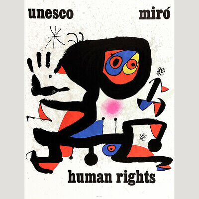 Joan Miro. Unesco Human Rights. 1974. Farblithographie