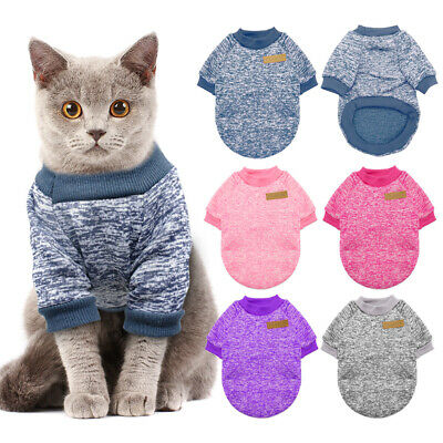 Cozy Windproof Cat Sweater Jumper Winter Dog Clothes Coat Jacket Knitted XS S ML