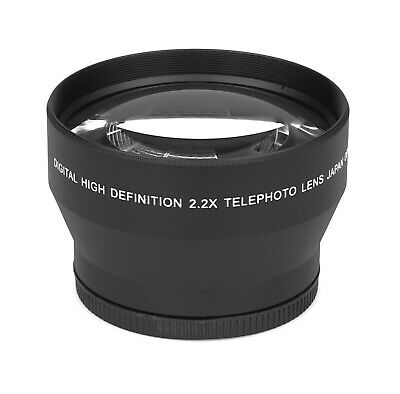 2.2x - 67mm HD Tele Ancillary Lens Real Glass Branded Optics Resolution