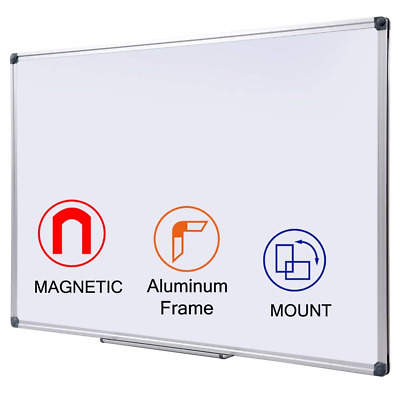 Large Magnetic Whiteboard 1200x900mm Dry Wipe Double Sided Hanging Message Board
