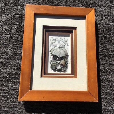 """FRUIT MARKET """"Grey"""" Beautiful 3D Raised Picture Hanging Plaque Framed Wall Art"""