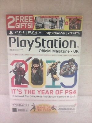 Playstation Official magazine UK Issue 157 JAN 2019 with 2 Free Posters