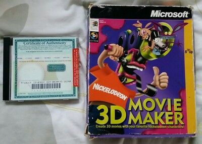 Microsoft 3D Movie Maker + Nickelodeon 3D Movie Maker Big Box PC Video Editor