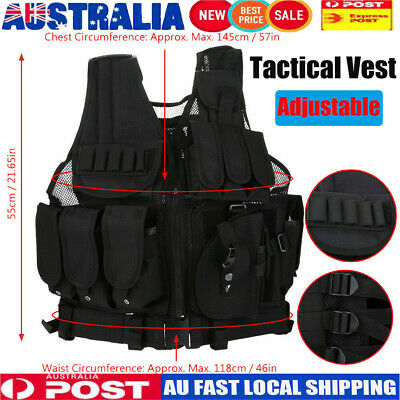 Adjustable Tactical Military Airsoft Molle Combat Army Plate Carrier Vest Troop