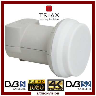 LNB Single Triax TSI 0,3 dB Gain 65 dB Tête universelle 1 sortie Full HD 3D 4K
