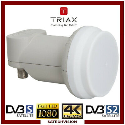LNB Twin Triax TTW 0,3 dB Gain 65 dB Tête universelle 2 sorties Full HD 3D 4K