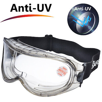 Safetyear Safety Goggles Protective Glasses Anti Fog Lab Welding Cycling Airsoft