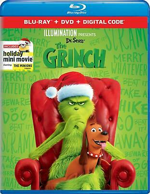Illumination Presents Dr. Seuss' The Grinch Benedict Cumberbatch Blu-ray discs 2